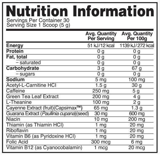 Optimum Nutrition: Burn Complex Thermogenic Drink Mix - Lemon Lime (30 Serves) image