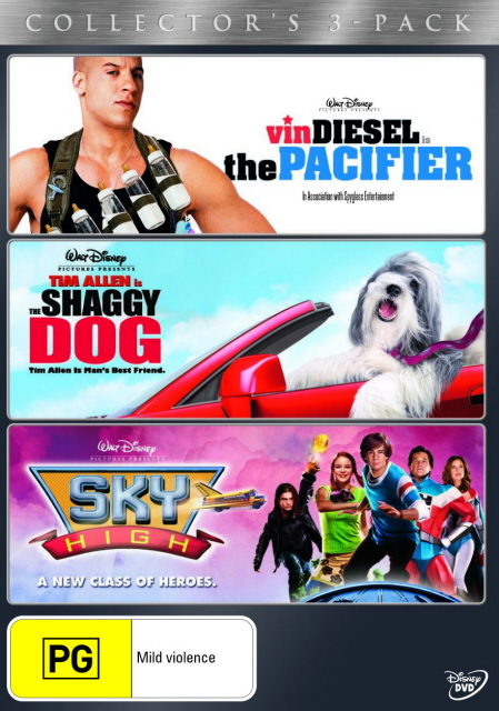Pacifier, The / The Shaggy Dog (2006) / Sky High - Collector's 3-Pack (3 Disc Set) on DVD image