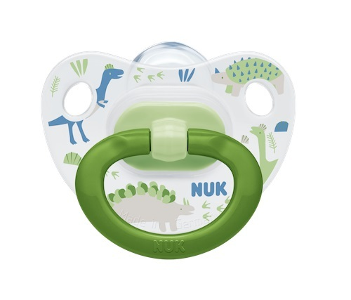 NUK: Classic Silicone Soother - 6-18 Months Green