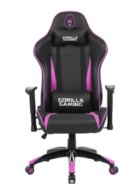 Gorilla Gaming Commander Chair - Magenta & Black for