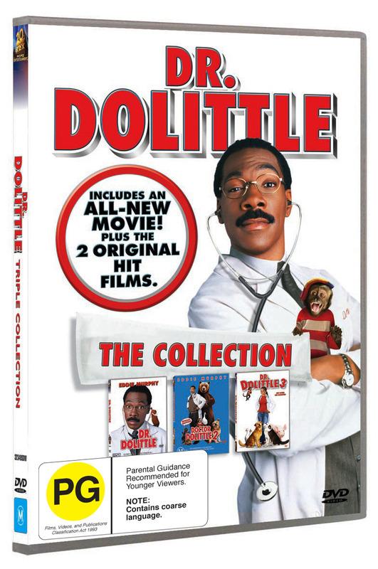 Dr Dolittle / Dr Dolittle 2 / Dr Dolittle 3 (3 Disc Set) on DVD