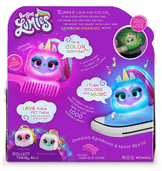 Pomsies: Lumies Interactive Plush - Dazzle GoGo image