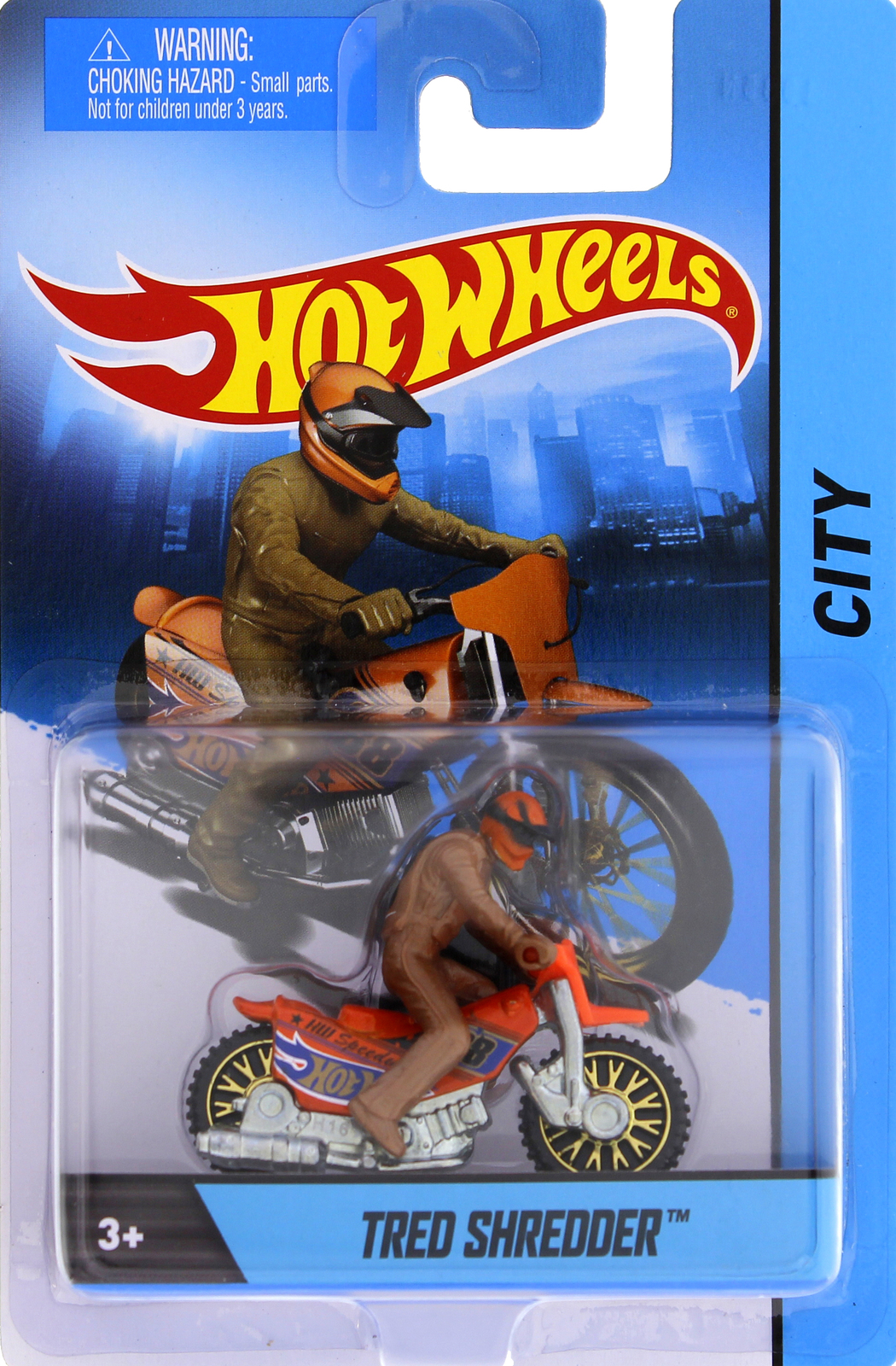 Hot Wheels 1:64 Diecast Motorcycle w/Rider - Tred Shredder