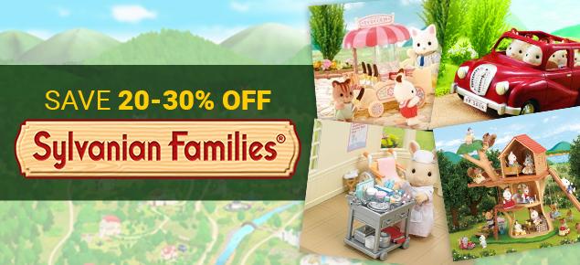 20-30% off Sylvanian Families!