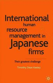 japanese hrm This essay examines the main changes in japanese hrm over the past 10-20 years, as well as highlighting the driving forces that brought about these changes.