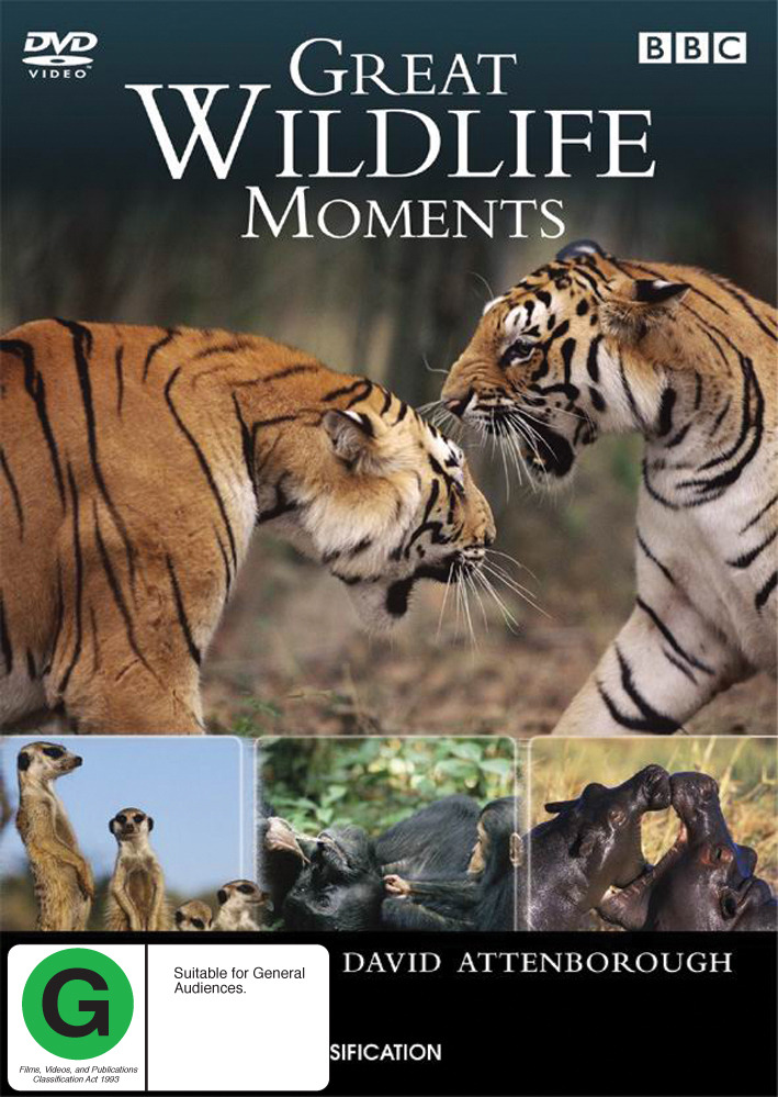 Great Wildlife Moments - David Attenborough on DVD image