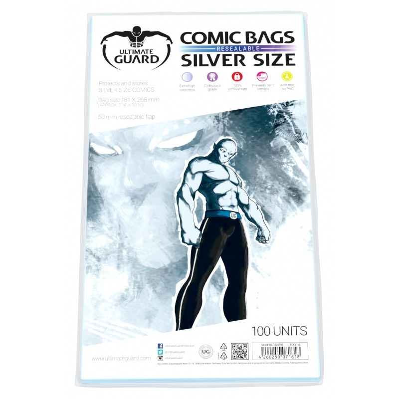 Ultimate Guard: Resealable Comic Bags - Silver (100-Pack) image