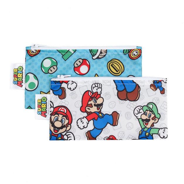 Bumkins: Small Snack Bag - Nintendo Mario (2pk)