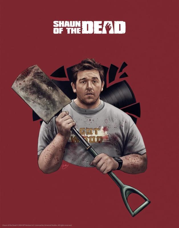 Shaun of the Dead: Premium Art Print - Shovel (Limited Edition)