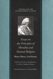 Essays on the Principles of Morality and Natural Religion by Henry Home Kames image