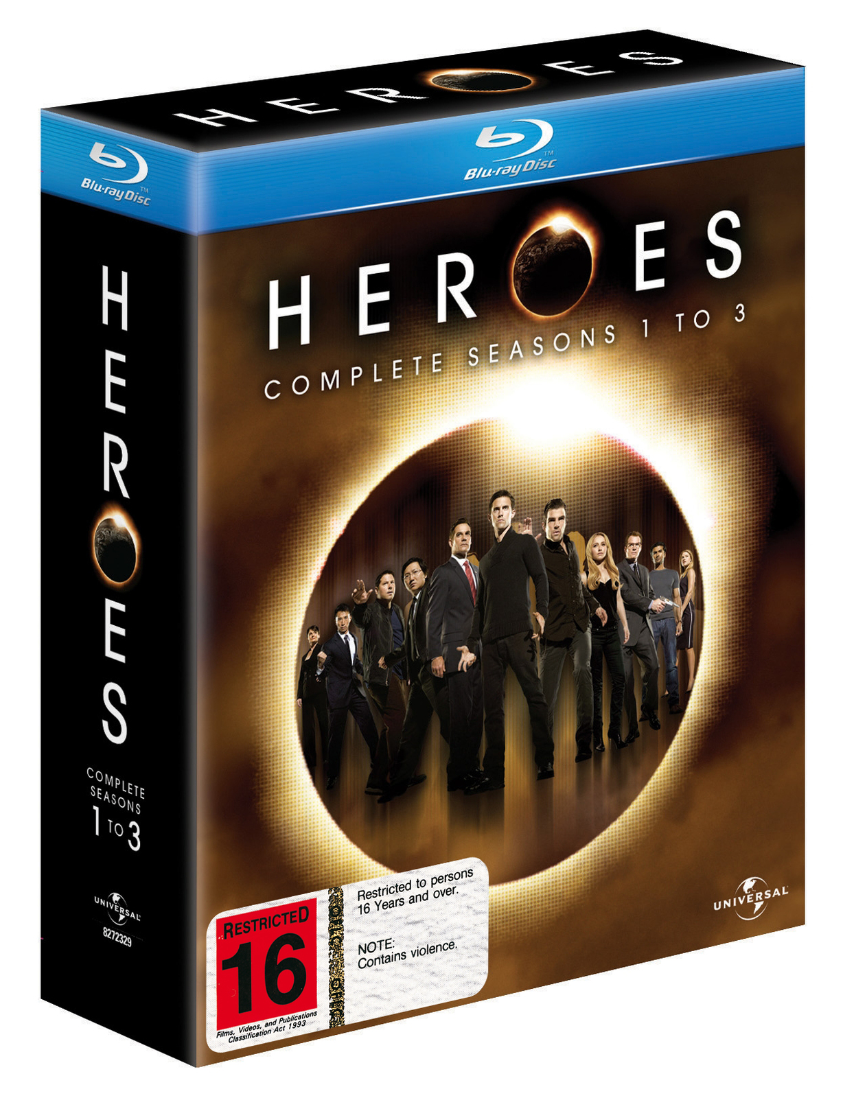 Heroes - Complete Seasons 1 to 3 (15 Disc Set) on Blu-ray image