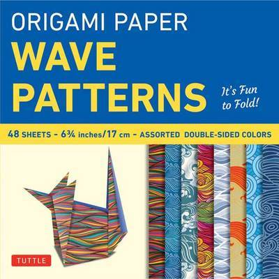 "Origami Paper Wave Patterns 6 3/4"" - 48 Sheets"