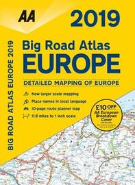 AA Big Road Atlas Europe 2019 by AA Publishing