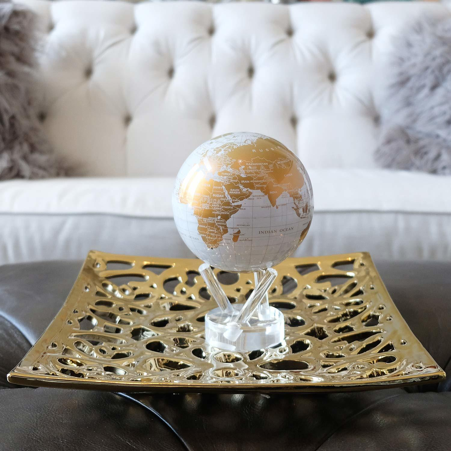 MOVA: Self Rotating Globe - White and Gold (11.5cm) image