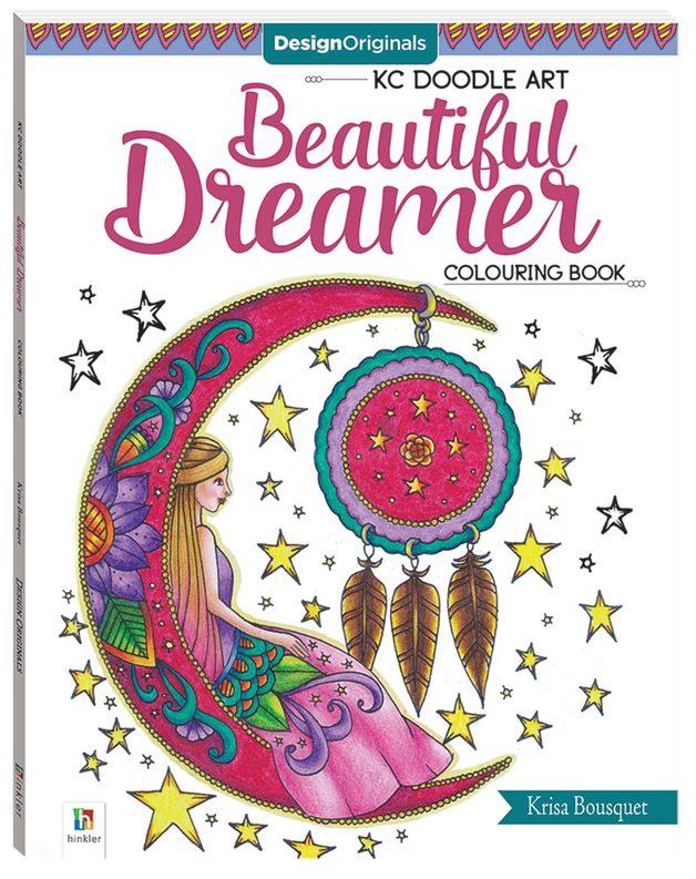 Design Originals Beautiful Dreamer Colouring Book by Hinkler Books Hinkler Books