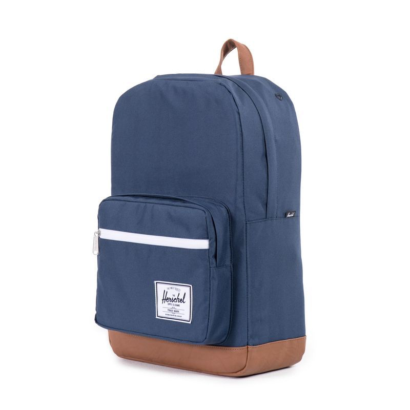Herschel Supply Co: Pop Quiz - Navy/Tan Synthetic Leather image