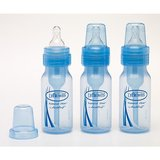 120ml Bottle with Level 1 Teat Narrow Neck (3 Pack Blue)