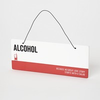Say It Plaque Alcohol