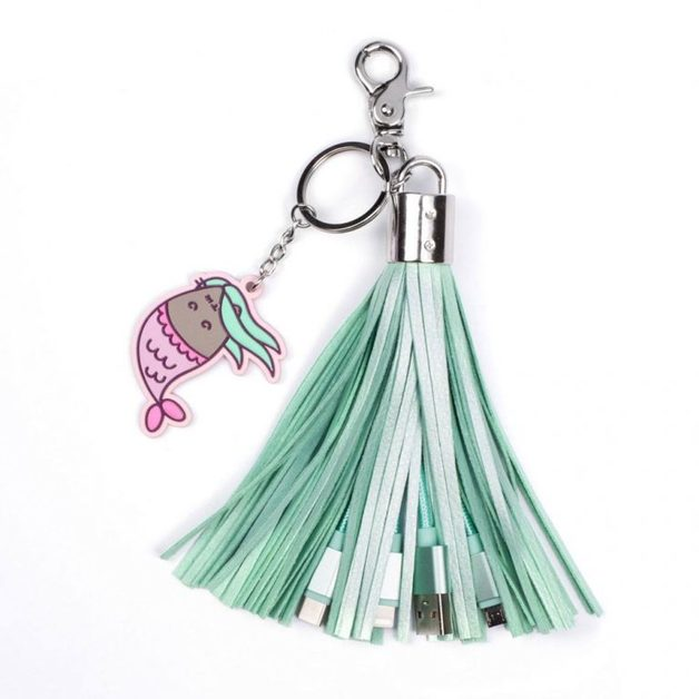 Pusheen USB Charging Cable 3in1 with Keychain Tassel