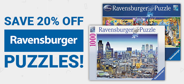 20% off Ravensburger Puzzles!