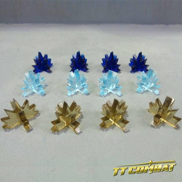 TTCombat: Blast Markers Set - Plasma (Smoke/Blue/Navy)