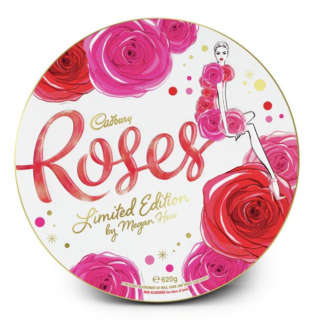 Cadbury: Roses - Limited Edition Megan Hess Tin (620g)