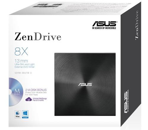 ASUS ZenDrive U7M USB 2.0 External Optical Drive image