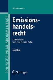 Emissionshandelsrecht by Walter Frenz image