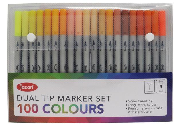 Jasart: Dual Tip Marker - Set of 100