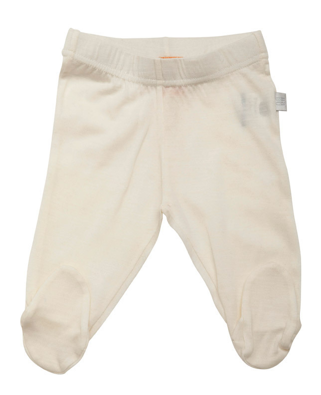 Babu Merino Leggings with Feet - Cream (3-6 Months) image