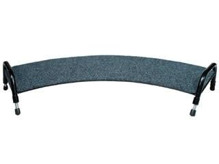 Fluteline Curved Footrest - Black