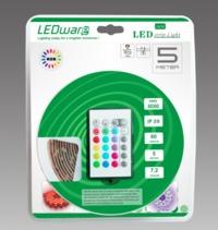 LEDware: LED Flex Ribbon Strip Kit - 12V 5m RGB LED/m Inc. Power Adapter & Remote