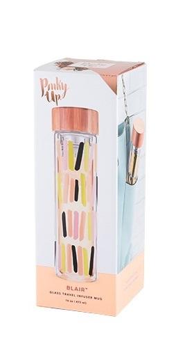 Pinky Up: Blair Glass Travel Infuser Mug - Sprinkles image