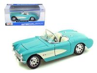 Maisto Special Edition: 1:24 Die-cast Vehicle - Turquoise 1957 Chevrolet Corvette