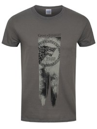 Game of Thrones: Stark Flag - Winter Is Coming T Shirt (S)