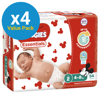 Huggies Essentials Nappies Bulk Value Box - Size 2 Infant (216)
