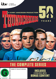 Thunderbirds: The Complete Series Box Set - 50th Anniversary Edition (9 Disc Set) DVD