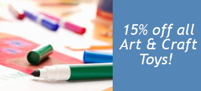 15% off a massive selection of Art & Craft Toys!