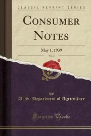 Consumer Notes, Vol. 2 by U.S Department of Agriculture image