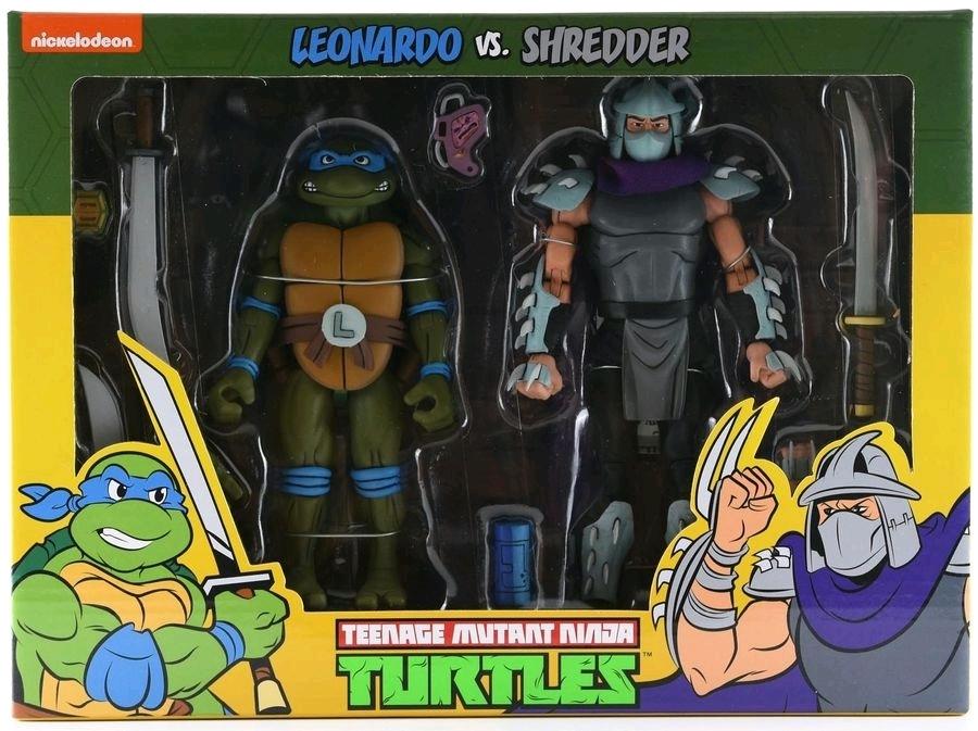 TMNT: Action Figure 2-Pack - Leonardo vs Shredder image