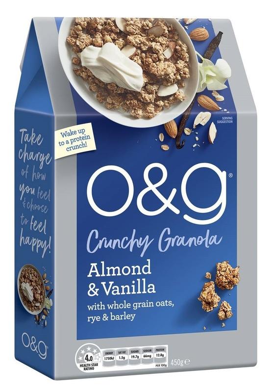 O&G: Crunchy Granola - Almond & Vanilla (6 x 450g)