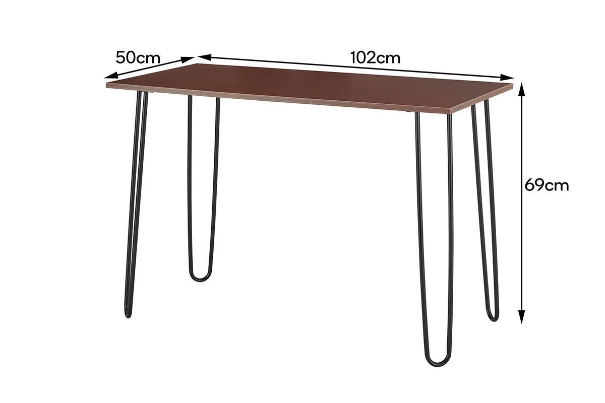 Ovela: Victoria Desk (Walnut/Black) image