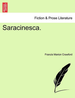 Saracinesca. by F.Marion Crawford