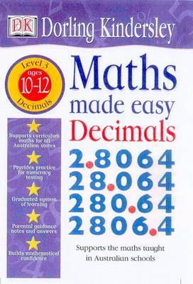 Decimals: Maths Made Easy Topic Workbook: Maths Made Easy Topi: Level 3: Ages 10-12 by Dorling Kindersley image