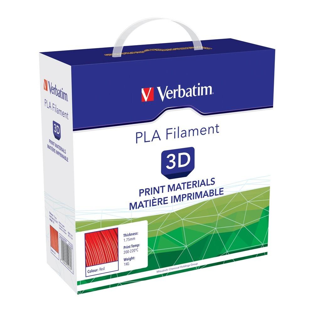 Verbatim 3D Printer PLA 1.75mm Filament - 1kg (Red) image
