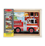 Melissa & Doug: Wooden Vehicles Jigsaw Puzzles in a Box