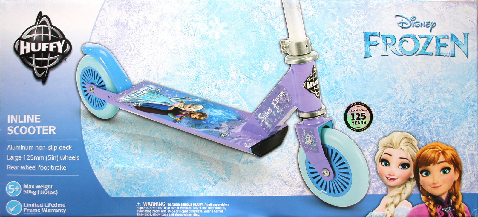 Huffy: Disney Frozen - Alloy Inline Scooter image