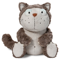 Nici: Lazy Cat - Grey 25cm