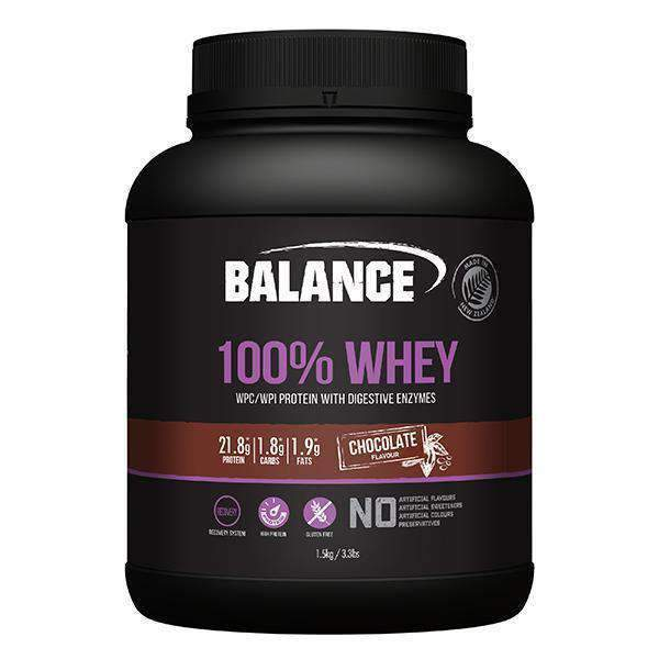 Balance 100% Whey Protein Powder - Chocolate (1.5kg)