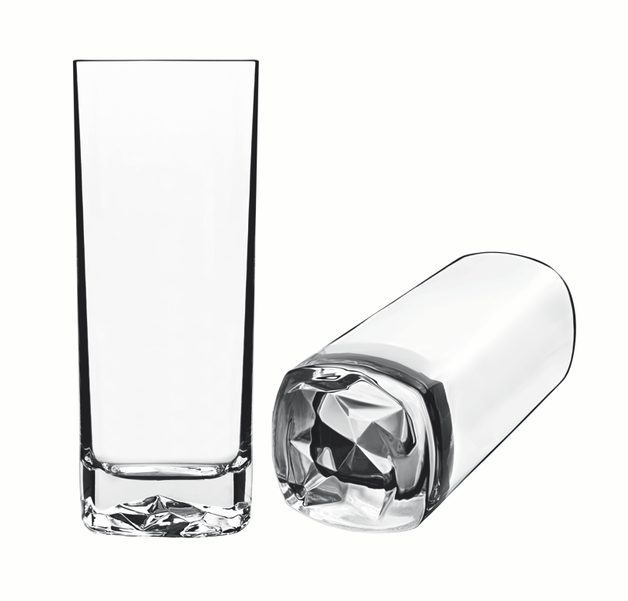 Luigi Bormioli: Strauss Rocks HiBall Tumblers Glasses - Set of 6 Gift Boxed (640ml)